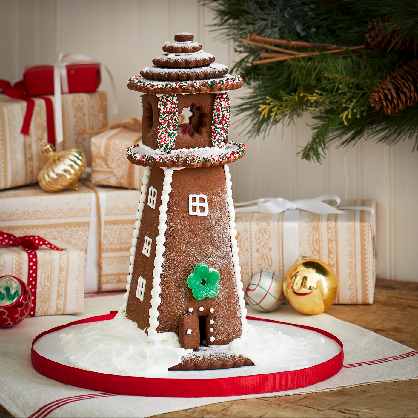 gingerbread lighthouse kit