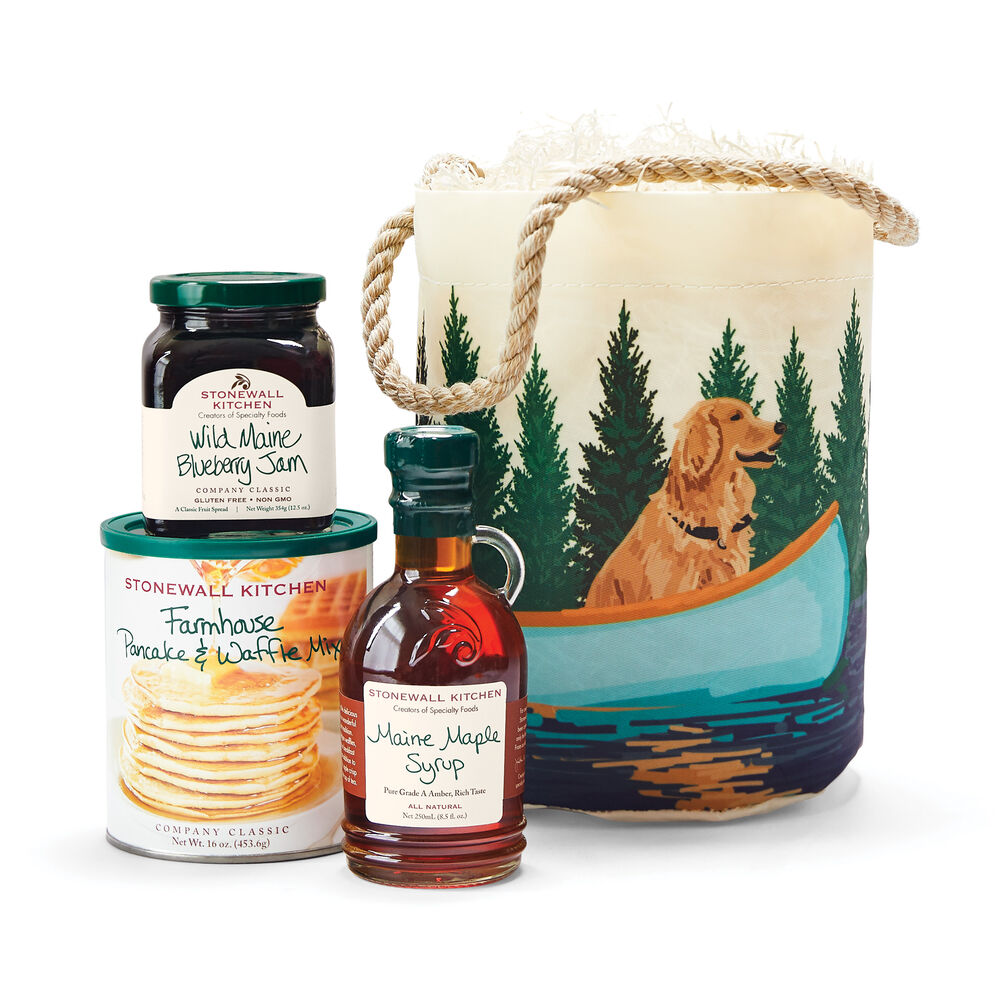 Sea Bags® Dog & Blue Canoe Bucket Breakfast Gift  image number 0