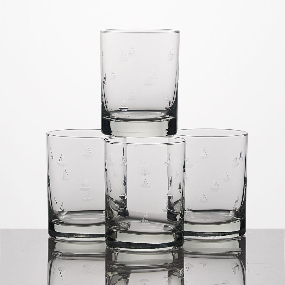 Sailing Double Old-Fashioned Glasses (Set of 4) image number 0