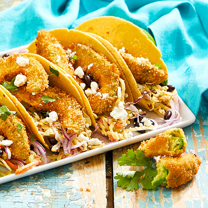 Fried Avocado Tacos