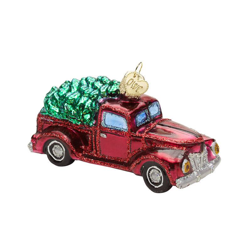 Vintage Truck & Tree Ornament