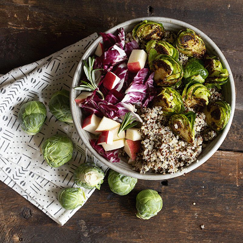Brussels Sprout Quinoa Harvest Bowl