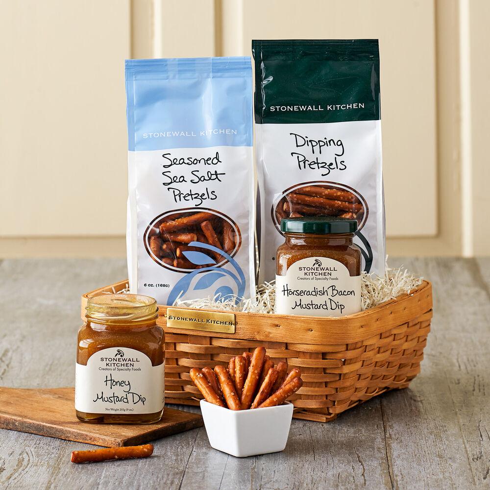 Pretzel and Dip Gift Basket image number 0