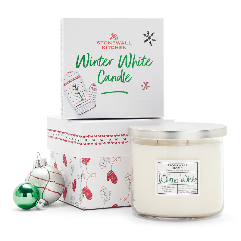 Stonewall Home Winter White Candle Holiday 2021