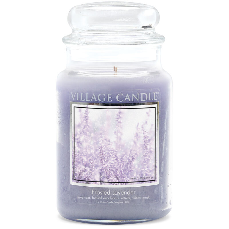 Frosted Lavender Candle