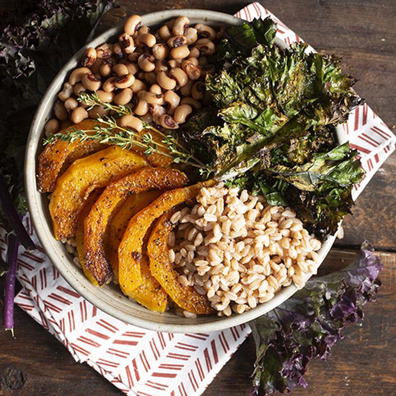 Squash & Crispy Kale Harvest Bowl