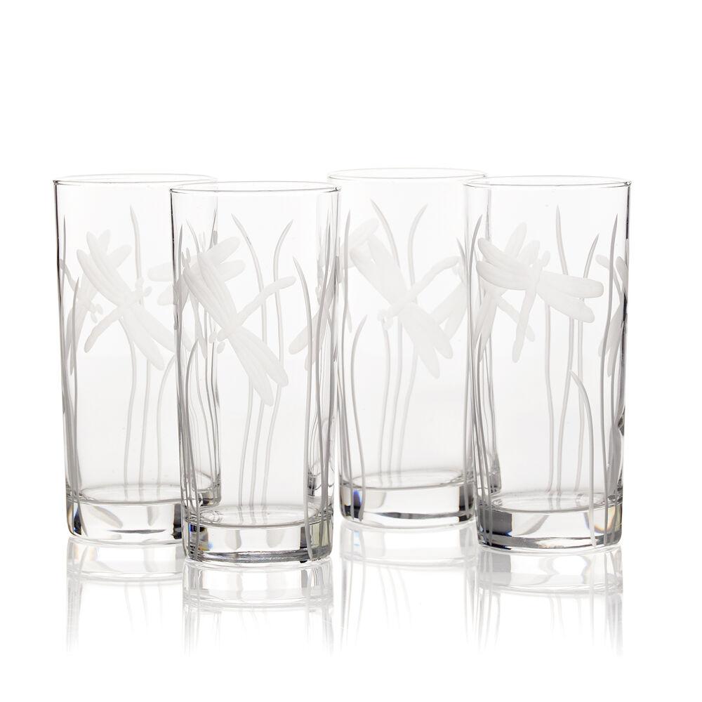 Dragonfly Cooler Highball Glasses (Set of 4) image number 0