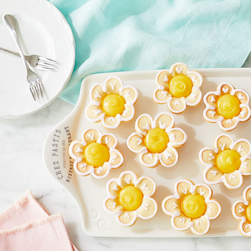 Lemon Raspberry Sugar Cookie Flowers
