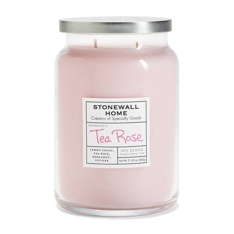 Stonewall Home Tea Rose Candle Collection