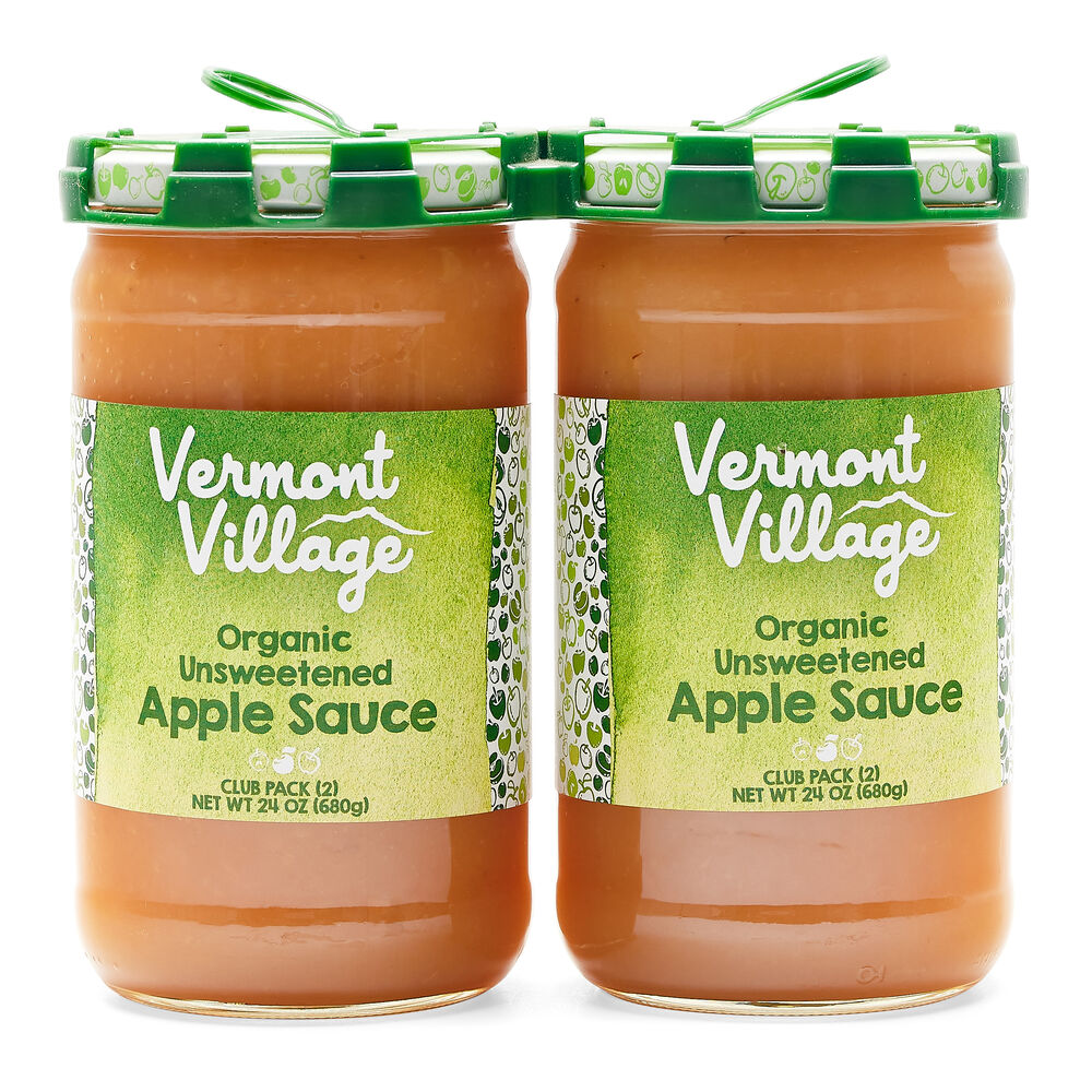 Unsweetened Apple Sauce (Organic) - 24 oz 2 pack image number 0