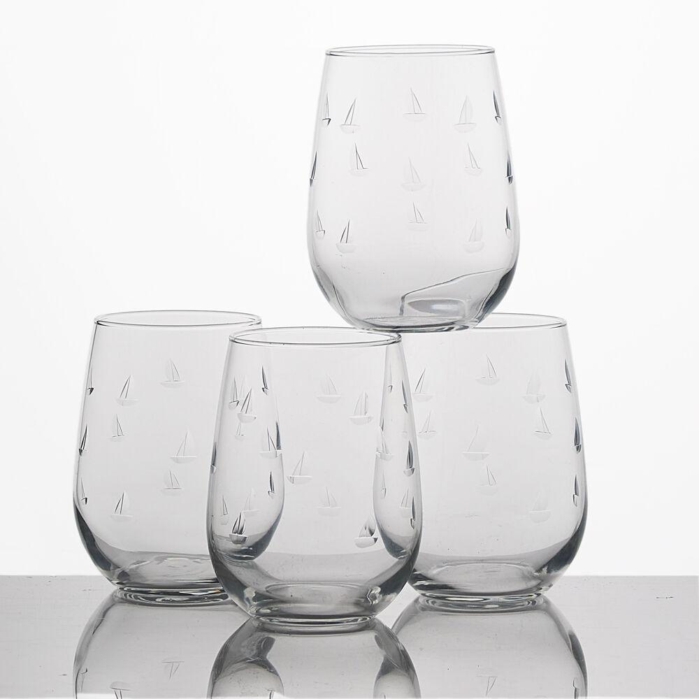 Sailing Stemless Wine Glasses (Set of 4) image number 0
