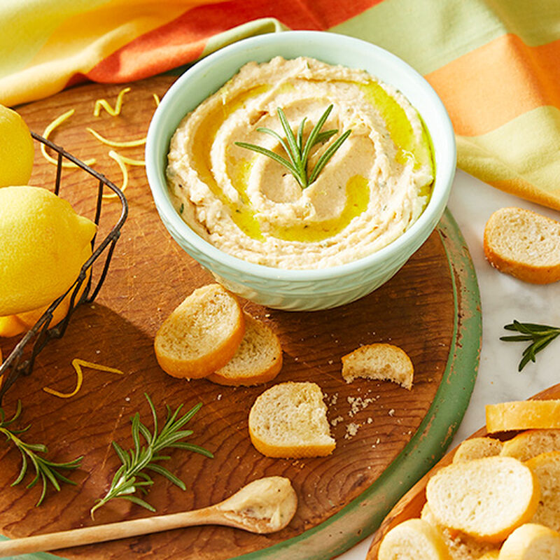 Lemon Rosemary White Bean Dip