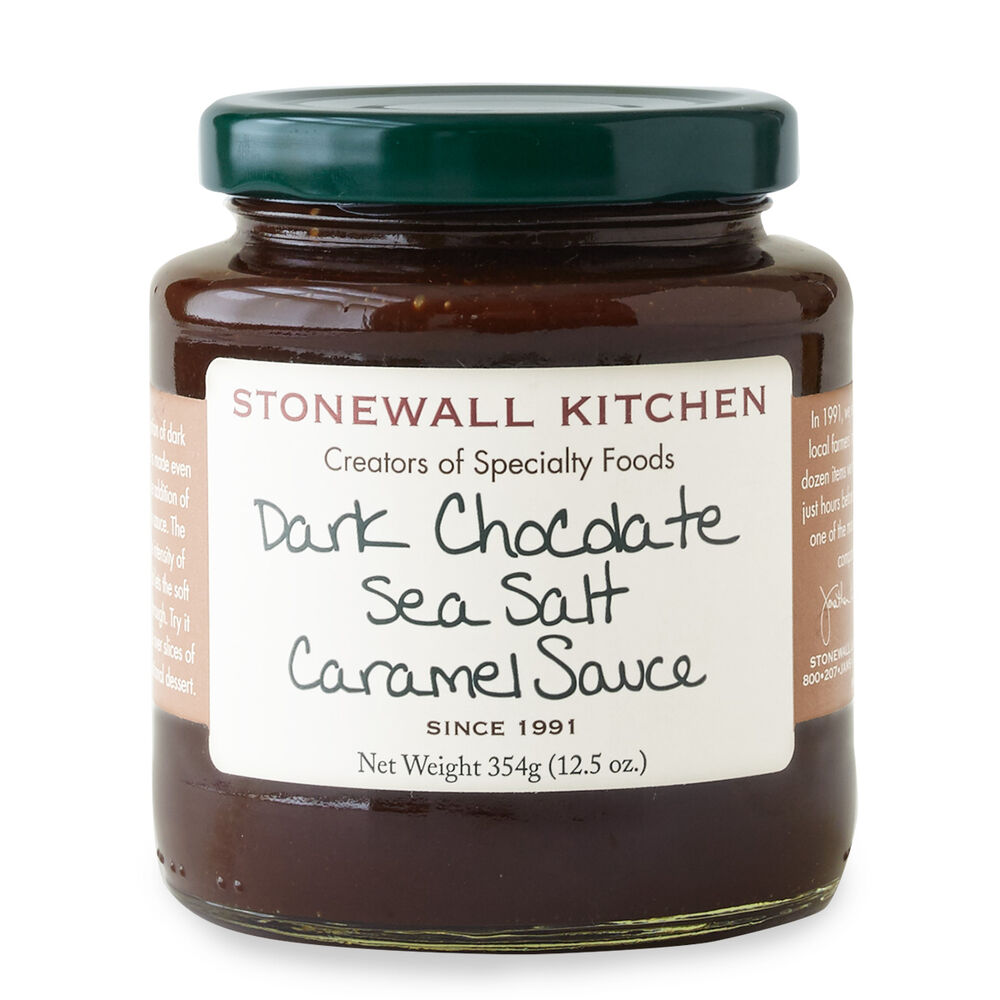 Dark Chocolate Sea Salt Caramel Sauce image number 0