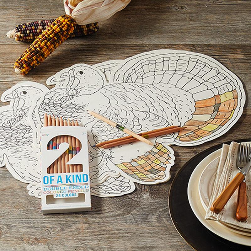 Thanksgiving Coloring Placemat Kit (Set of 12)