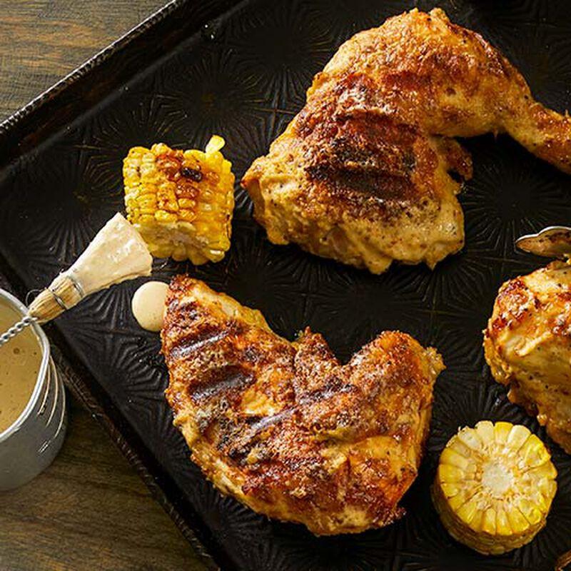 Horseradish Peppercorn Grilled Chicken