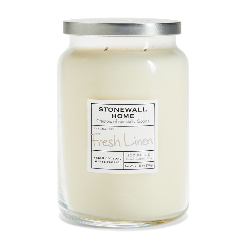 Stonewall Home Fresh Linen Candle Collection