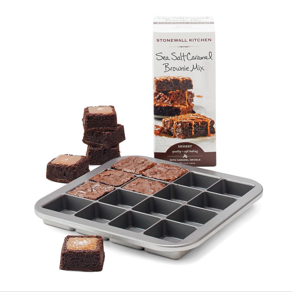 Brownie Bites Pan & Sea Salt Caramel Brownie Mix image number 0