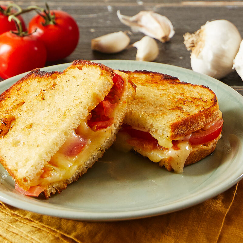 Garlicky Grilled Cheese with Tomato
