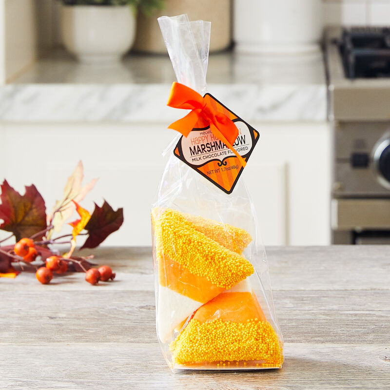 Candy Corn-Shaped Marshmallow Toppers
