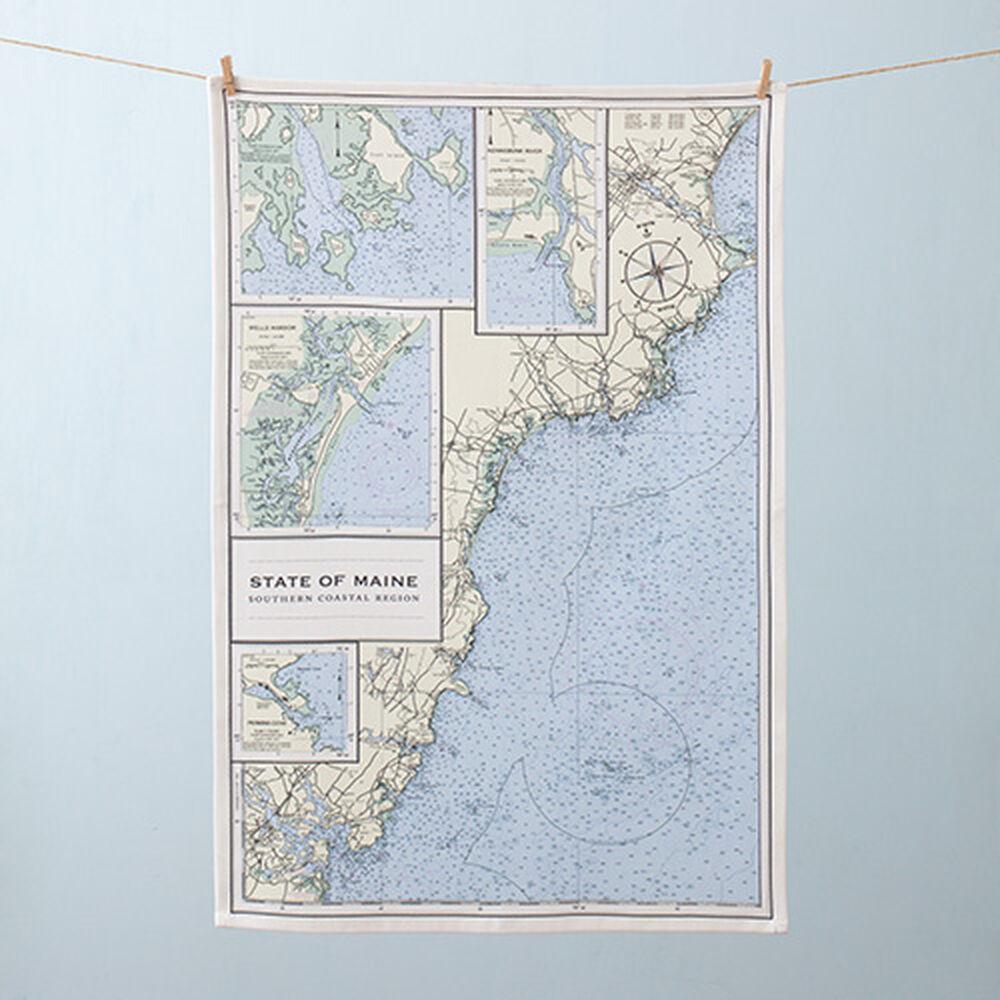 Nautical Chart Tea Towel image number 0