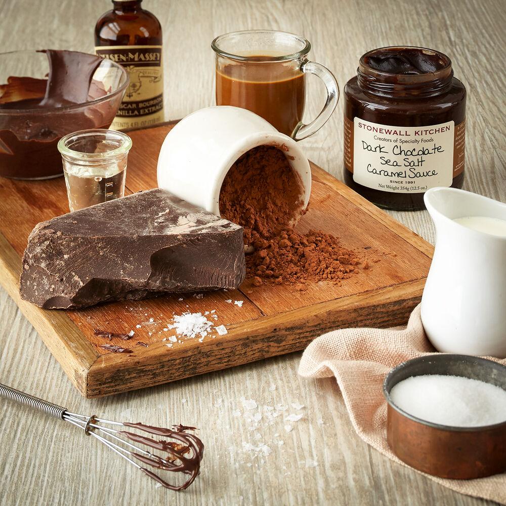 Dark Chocolate Sea Salt Caramel Sauce image number 3