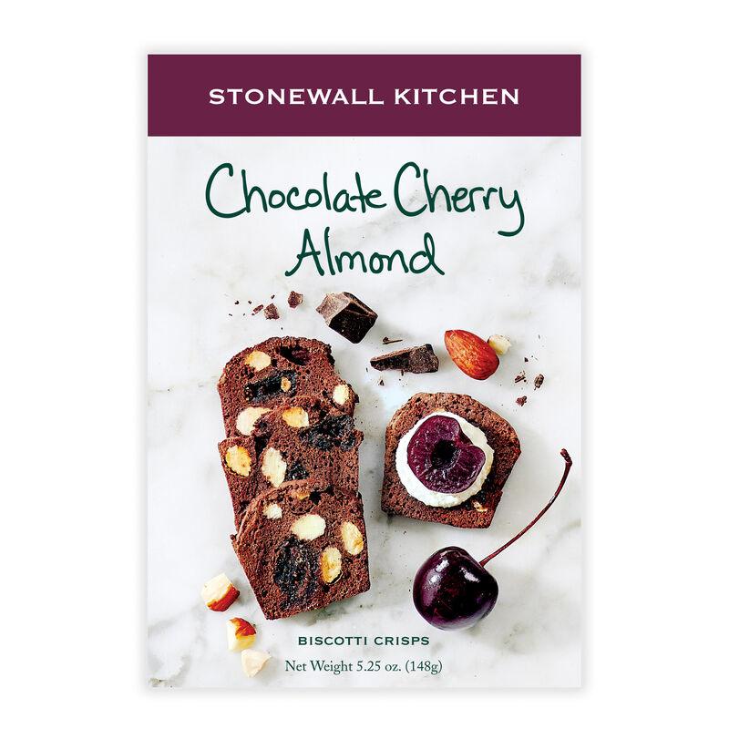 Chocolate Cherry Almond Biscotti Crisps