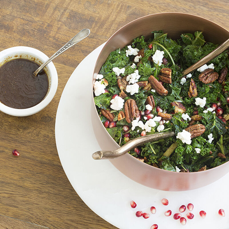 Kale Salad with Homemade Maple Sausage Dressing