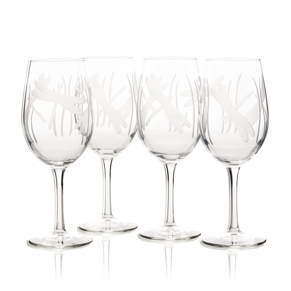 Dragonfly All-Purpose Wine Glasses (Set of 4) image number 0