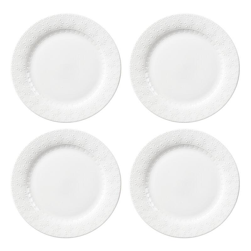 Snowflake Border Dinner Plate (Set of 4)