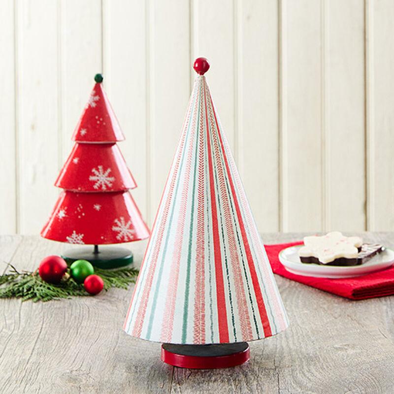 Holiday Stripe Metal Tree