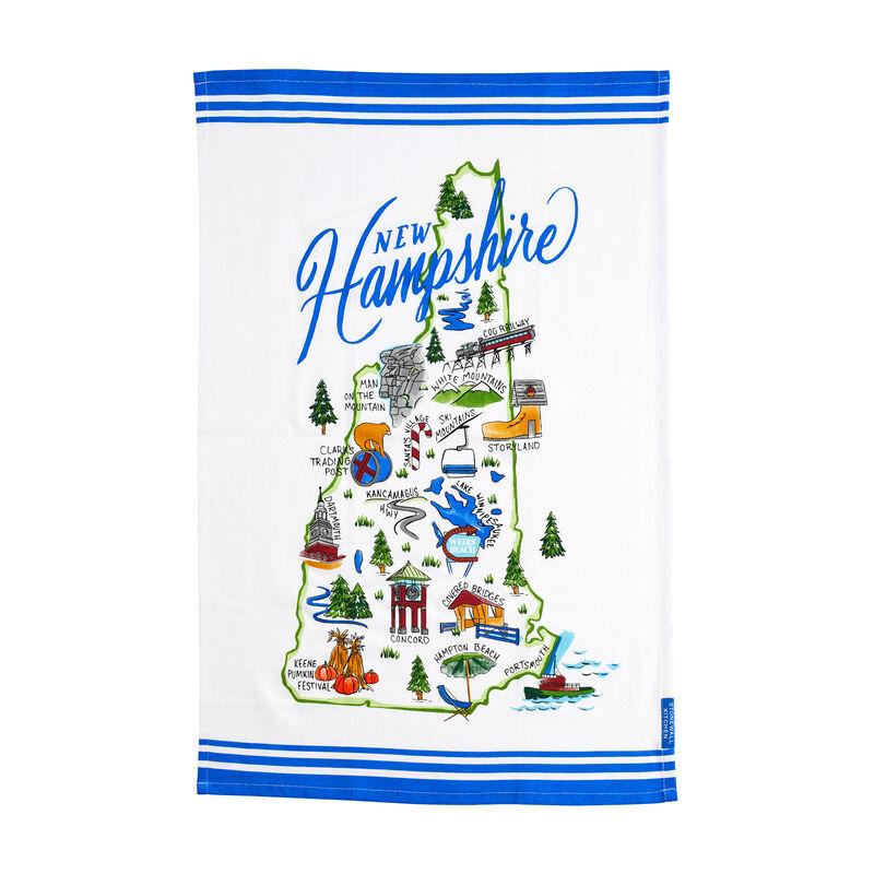 New Hampshire Map Tea Towel