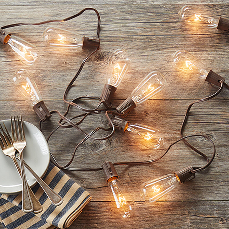 Brown Wire Patio Lights