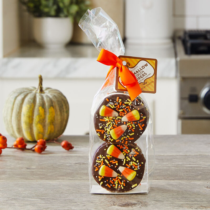 Dark Chocolate Candy Corn Marshmallow Toppers
