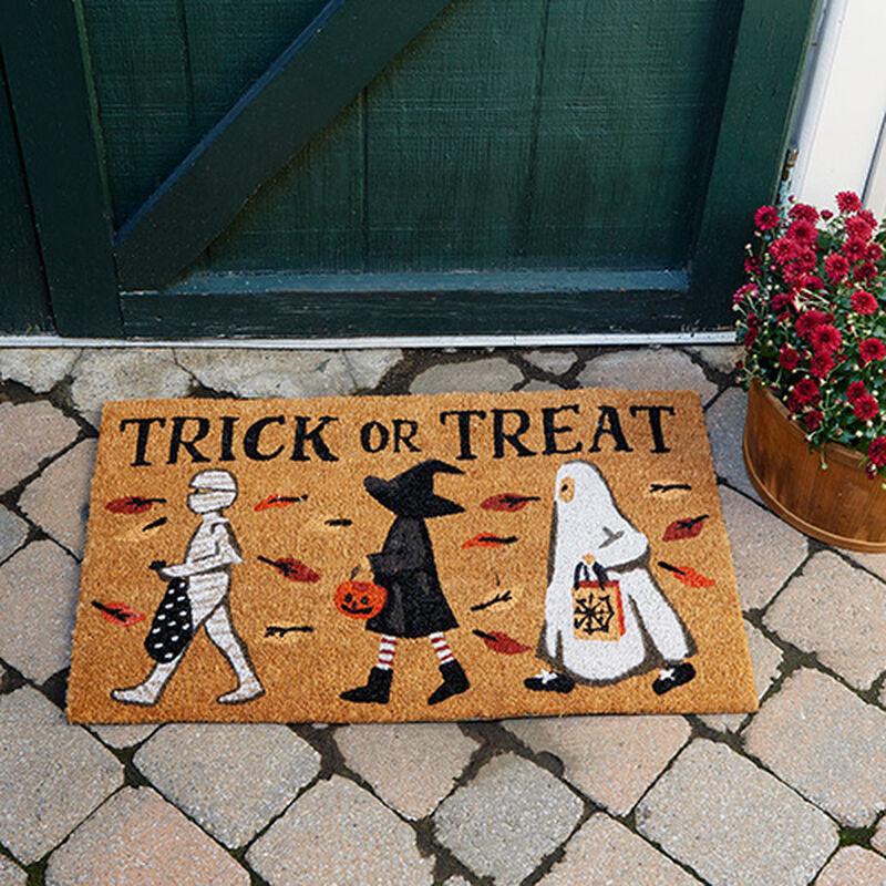 Trick-or-Treaters Doormat