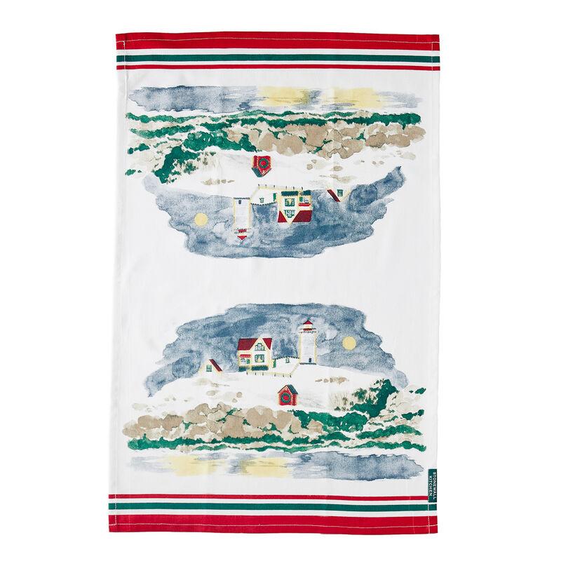 Nubble Lighthouse Holiday Tea Towel