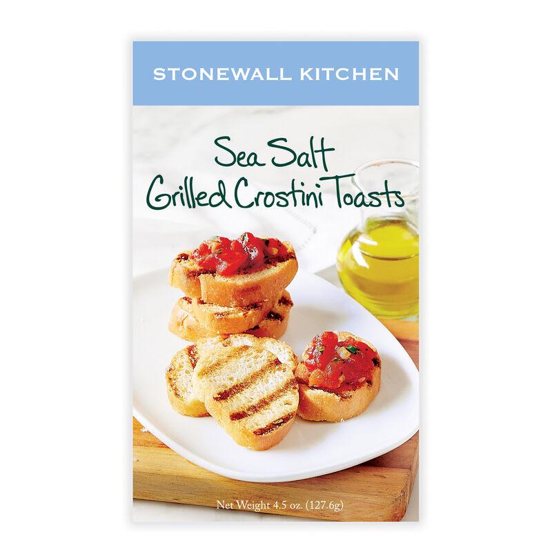 Sea Salt Grilled Crostini Toasts