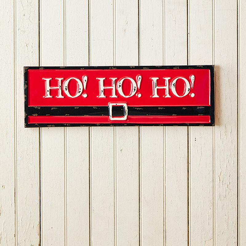 Ho Ho Ho Santa Belt Sign