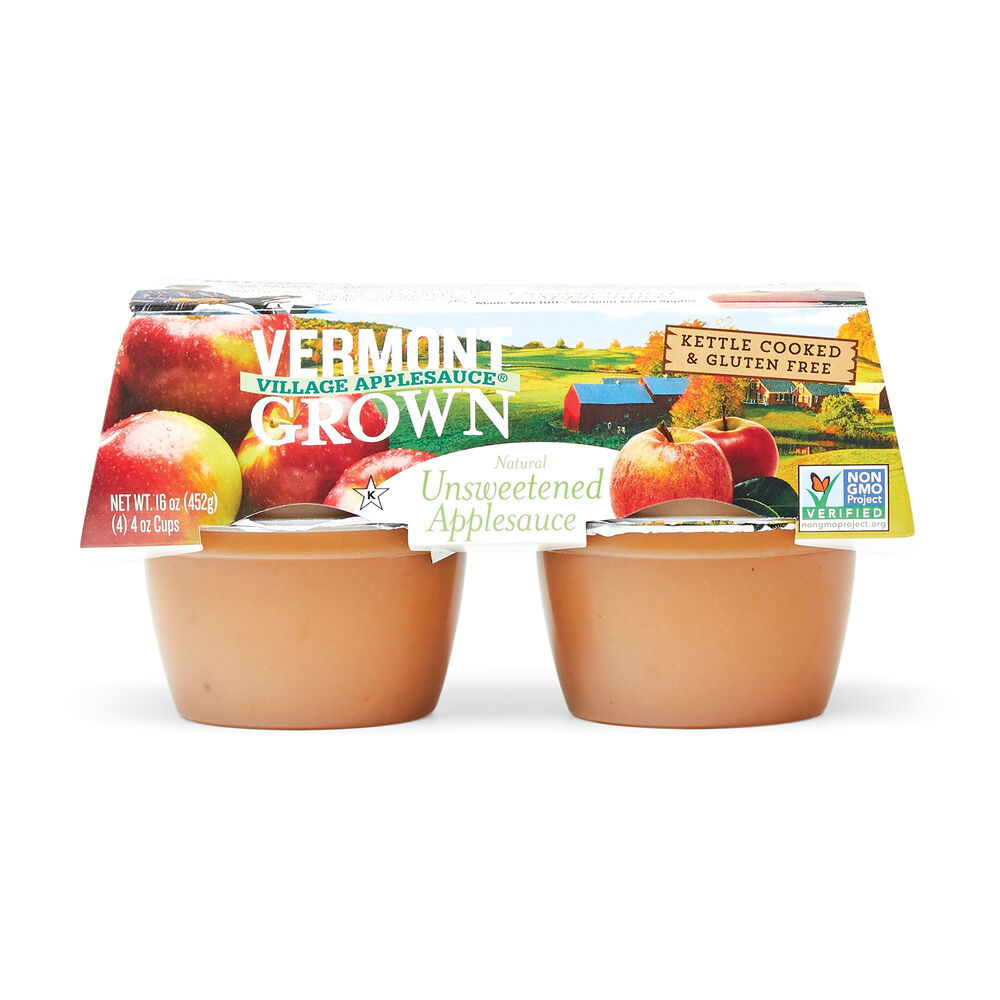 Vermont Grown Unsweetened Apple Sauce - 4 oz Cups image number 0