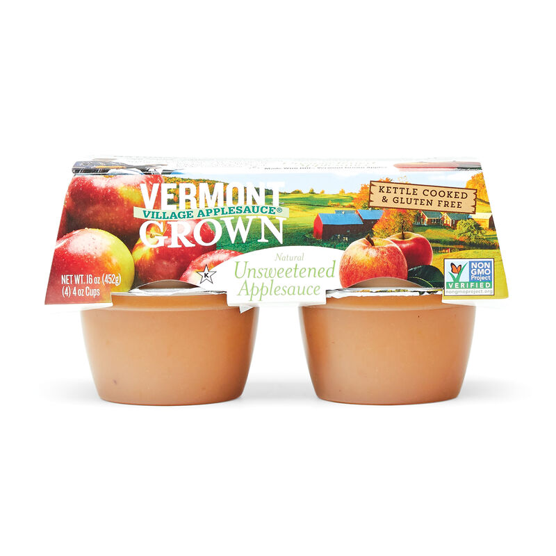 Vermont Grown Unsweetened Apple Sauce - 4 oz Cups