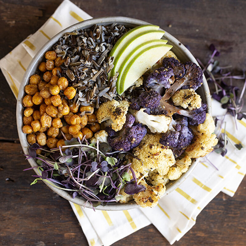 Cauliflower & Crispy Chickpea Harvest Bowl
