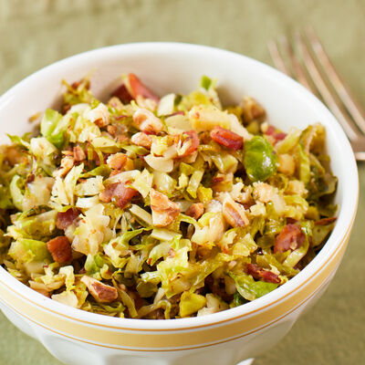 Bourbon Bacon Brussels Sprout Salad