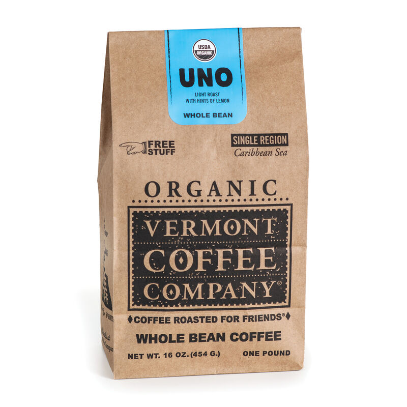 Uno Caribbean Whole Bean Coffee 16oz