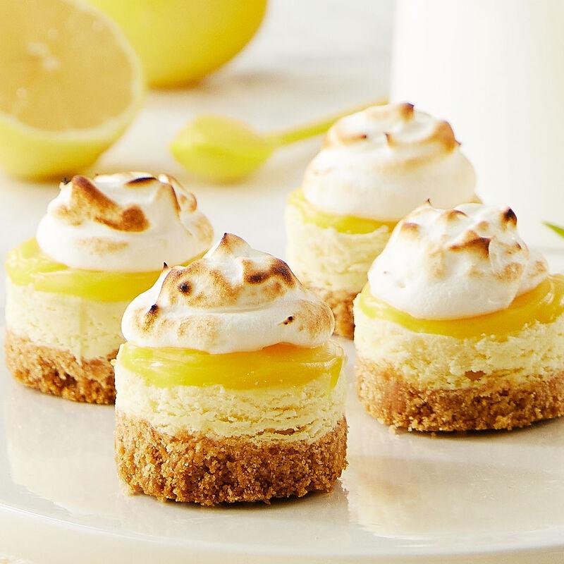 Mini Lemon Meringue Cheesecakes