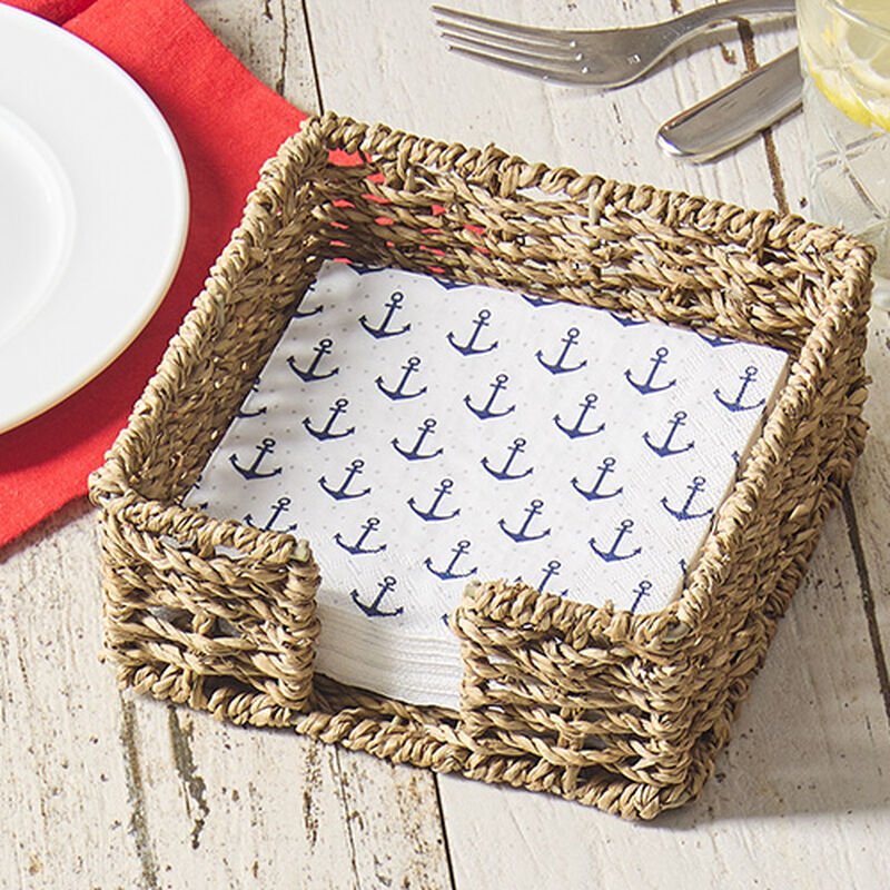 Seagrass Cocktail Napkin Caddy