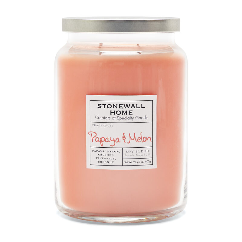 Stonewall Home Papaya & Melon Candle