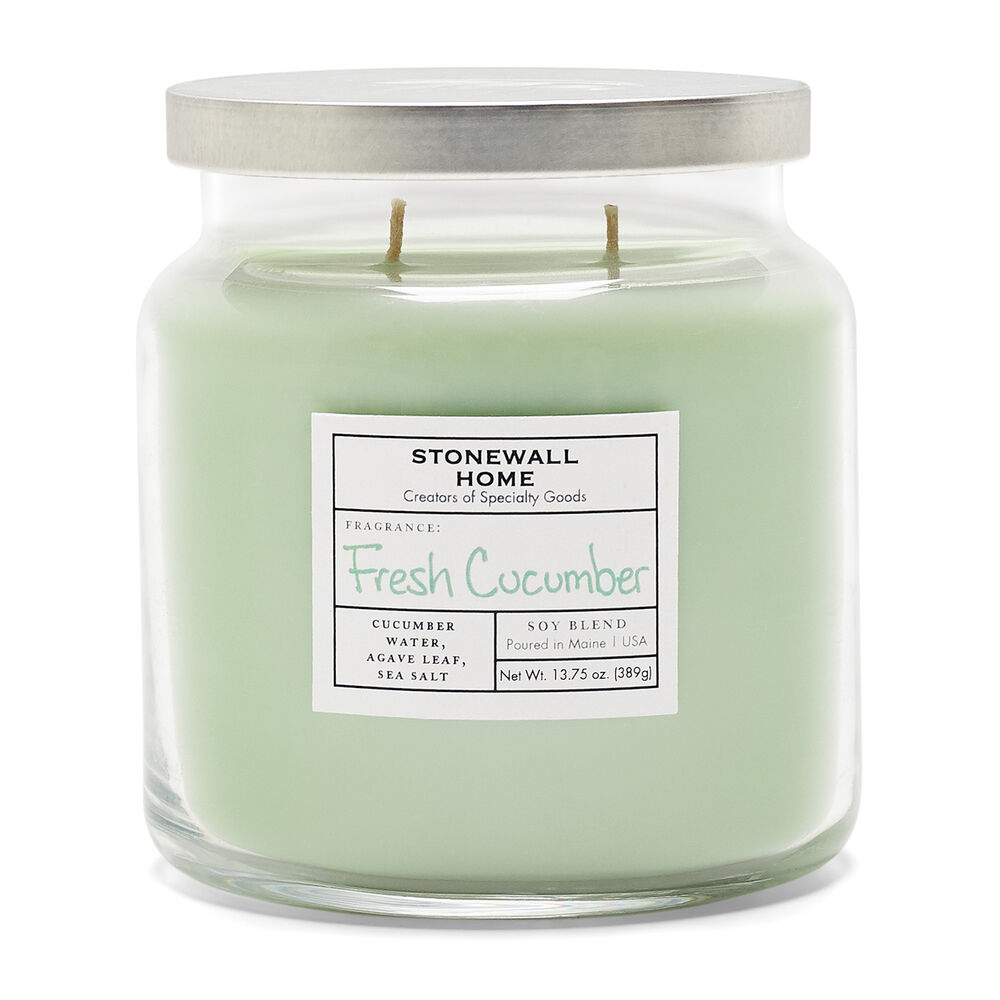 Stonewall Home Fresh Cucumber Candle image number 1