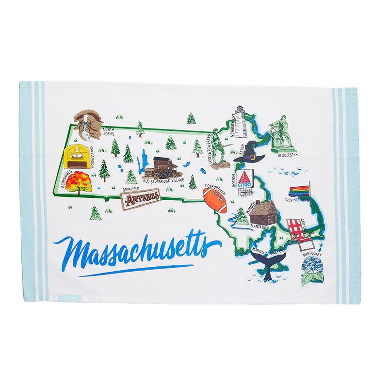 Massachusetts Map Tea Towel