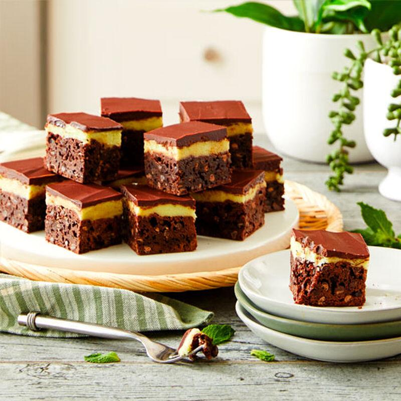 Minty Fudge Brownies