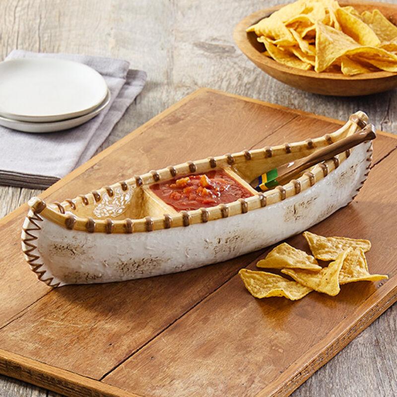 Canoe Dish with Spoon
