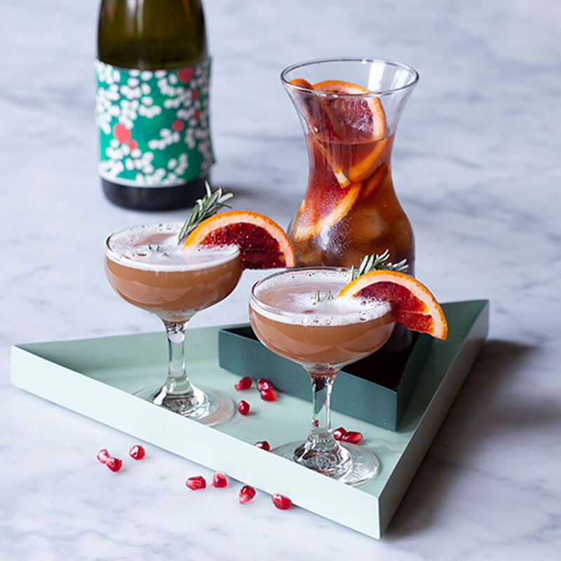 Mulled Pomegranate Batch Cocktail